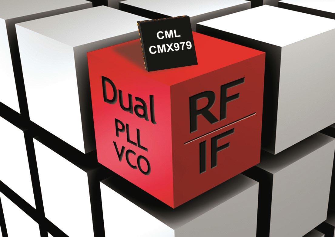 CML Microcircuits анонсировала выпуск сдвоенного синтезатора частот с интегрированным ГУН