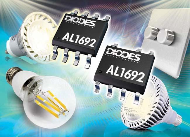 Diodes разработала драйверы/контроллеры светодиодов для твердотельных ламп с симисторным диммированием