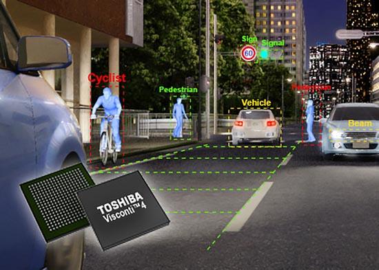 Процессор для распознавания изображений Toshiba Visconti4 используется в системе активной безопасности DENSO на основе камеры переднего обзора