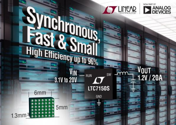 20V, 20A Monolithic Synchronous Silent Switcher 2 Buck Regulator Reduces EMI & Enables High Power Density Applications
