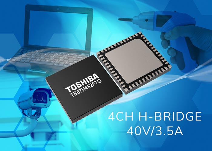 Toshiba Launches High-Current 4-Channel H-bridge Motor Driver IC