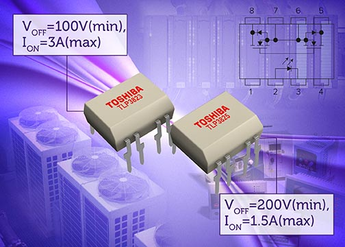 Toshiba Expands Line-Up of Photorelays in DIP8 packages