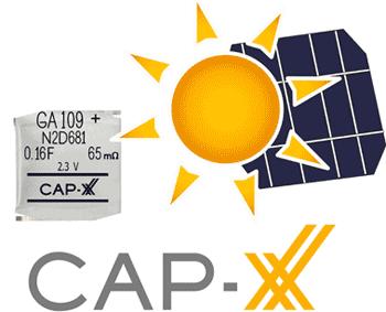 Использование суперконденсаторов CAP-XX в устройствах с питанием от солнечных батарей