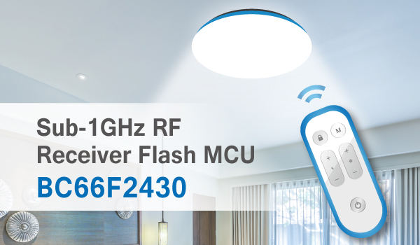 HOLTEK New BC66F2430 Sub-1GHz RF Super-Regenerative