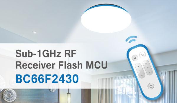 HOLTEK New BC66F2430 Sub-1GHz RF Super-Regenerative OOK Receiver A/D SoC MCU