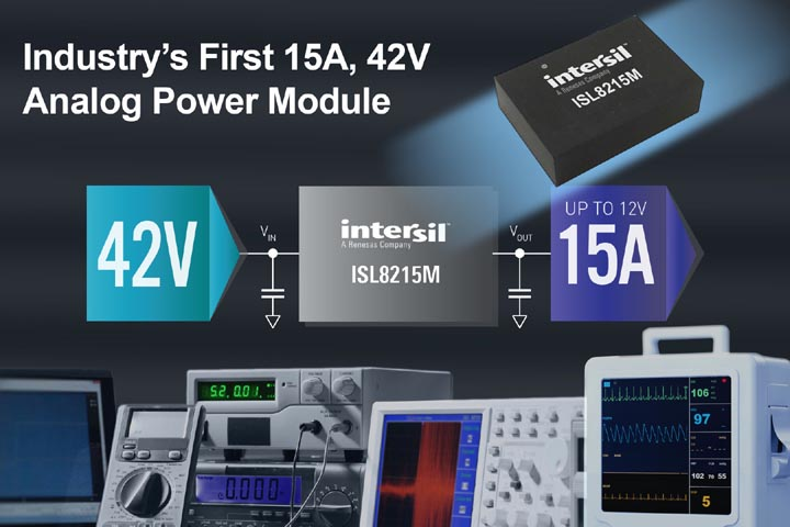Intersil Announces Industry's First 15A, 42V Analog Power Module