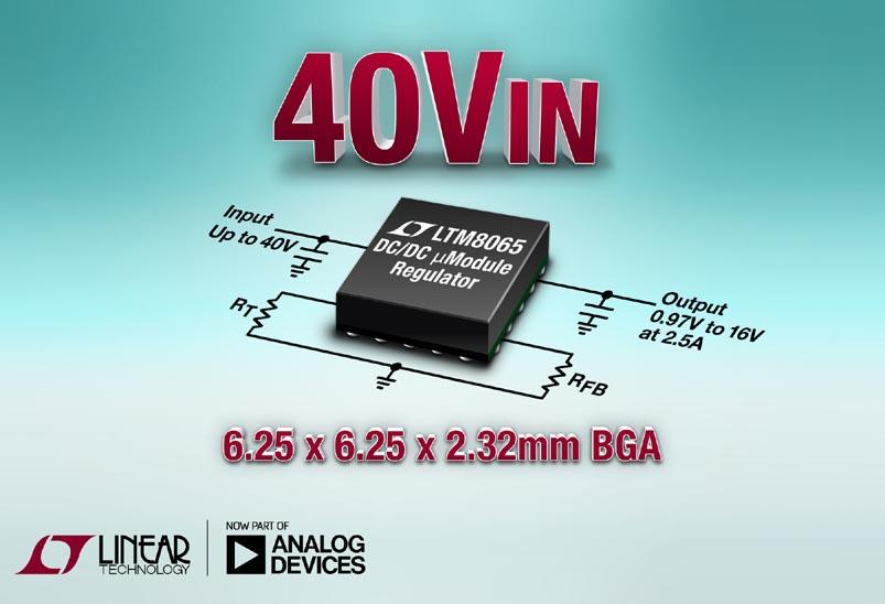 Silent Switcher, 42VIN, 2.5A μModule Regulator in 6.25mm x 6.25mm BGA Package