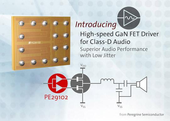 Peregrine Announces PE29102 High-speed FET Driver