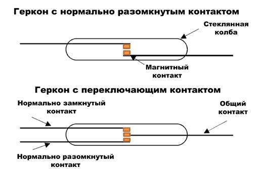 Структура простейшего геркона