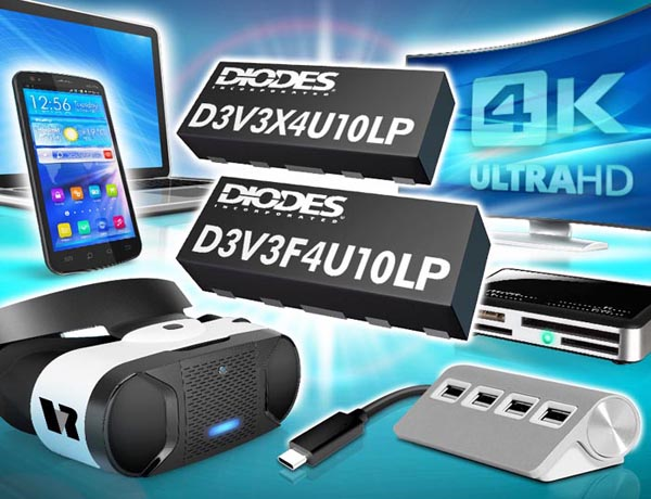 Diodes announces New TVS Devices with Ultra-low Channel Input Capacitance for High-speed Dataline ESD Protection