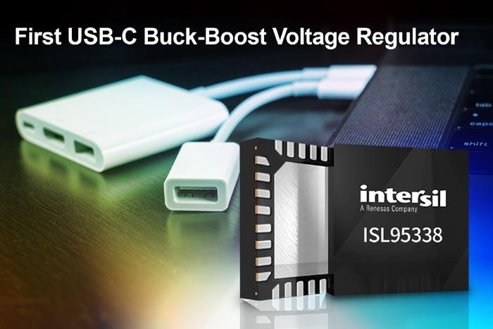 Intersil Unveils First USB-C Buck-Boost Voltage Regulator