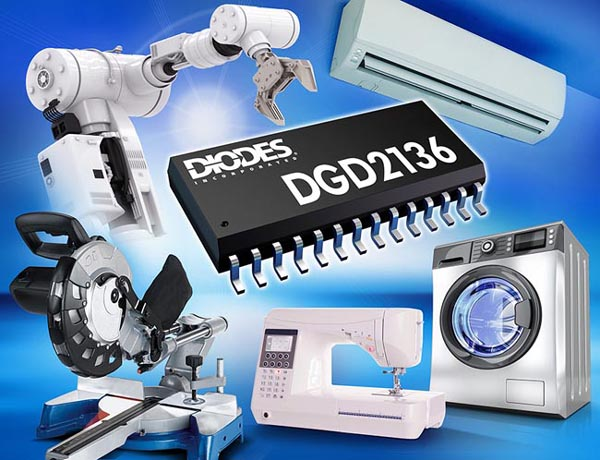 Three-Phase Half-Bridge Gate Driver from Diodes Incorporated Simplifies BLDC and PMSM Motor Drive