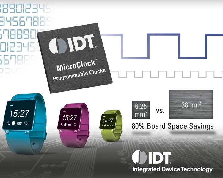 IDT Addresses Challenges in Wearable and Small Form Factor Designs with a New Family of Compact Clock Generators