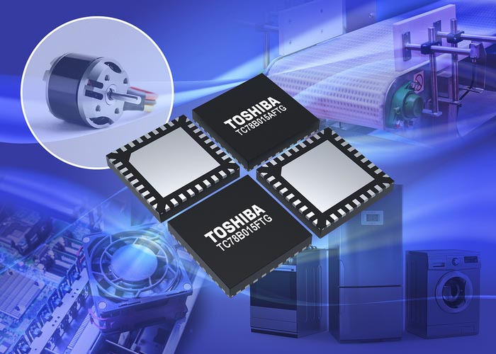 Toshiba's New Three-phase Brushless Motor Drivers Realise High Speed Rotation for Small Motors