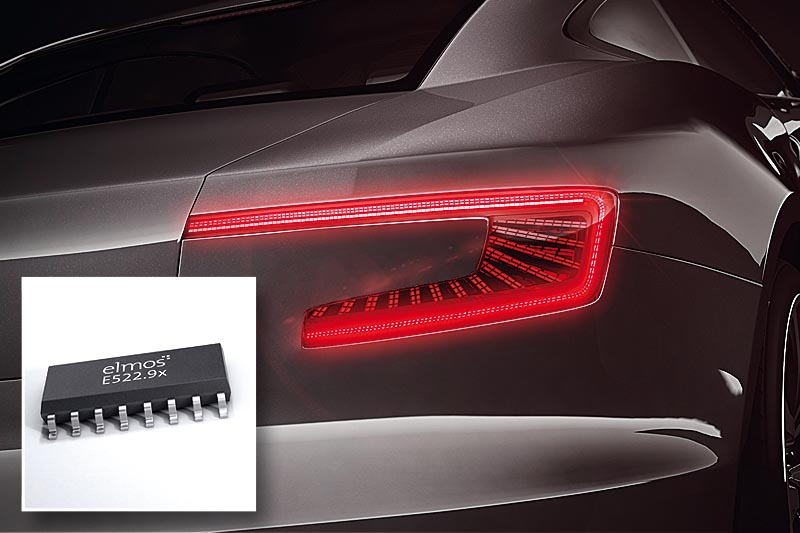 Elmos: LED controller for automotive rear lighting with patented power management