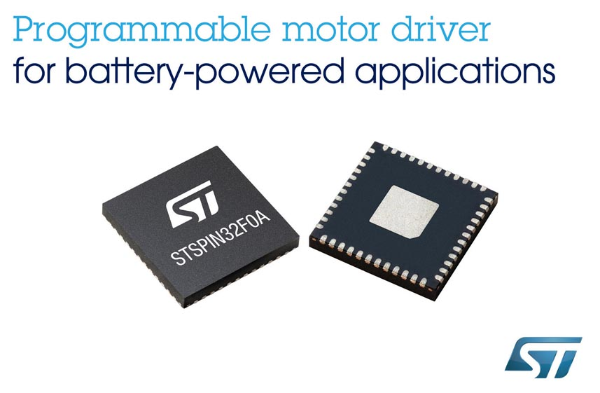 STMicroelectronics' New Motor Driver with Embedded 32-Bit MCU Simplifies Motion Control for Battery-Operated Robots and Appliances