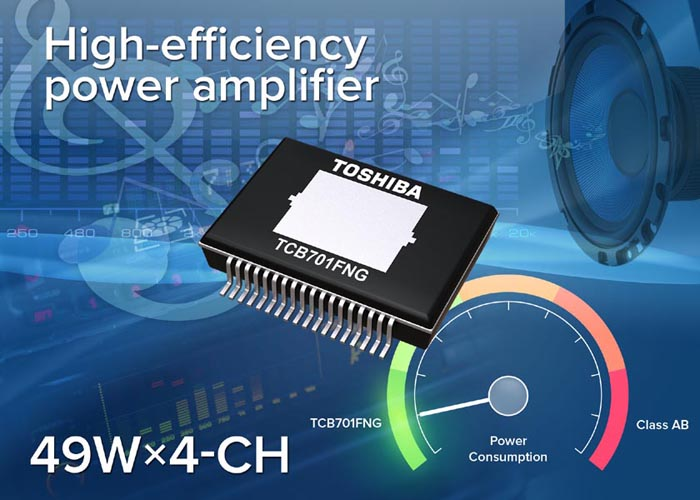 Toshiba sets new standard with advanced high-efficiency Audio Power Amplifier