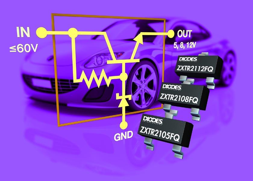 Automotive-Grade Regulators from Diodes Incorporated Deliver 5V, 8V, or 12V Outputs and Tolerate 60V Battery Transients