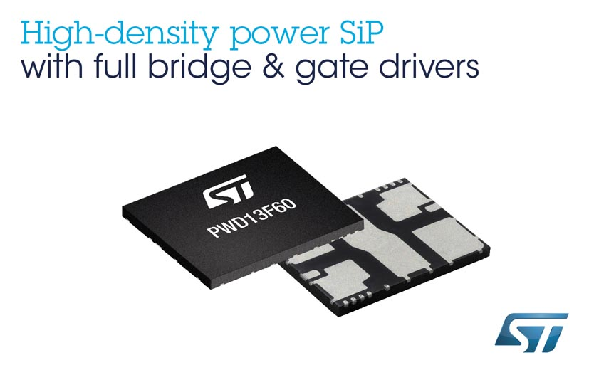 Complete Full-Bridge System-in-Package from STMicroelectronics Includes MOSFETs, Gate Drivers, and Protection to Save Space, Simplify Design, and Streamline Assembly
