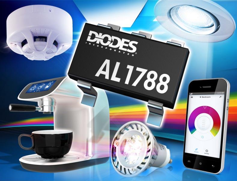 Контроллер преобразователя с корректором коэффициента мощности компании Diodes повысит энергоэффективность светодиодных источников света