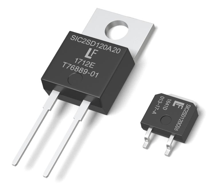 Expanded SiC Schottky Diode Line from Littelfuse Reduces Switching Losses, Increases Efficiency and Robustness