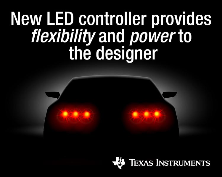 TI's new automotive LED lighting controller puts the power in designers' hands