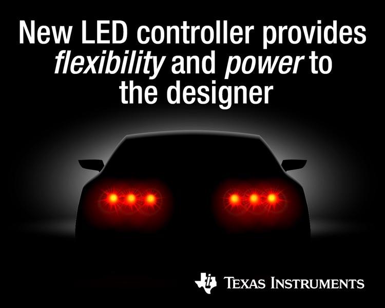 Texas Instruments предоставила разработчикам новый мощный контроллер автомобильного светодиодного освещения