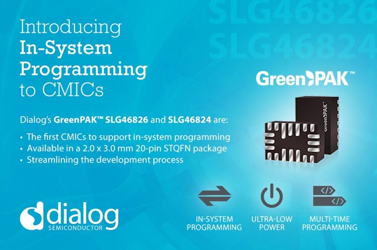 Dialog Semiconductor Introduces the First Configurable Mixed-Signal ICs with In-System-Programming