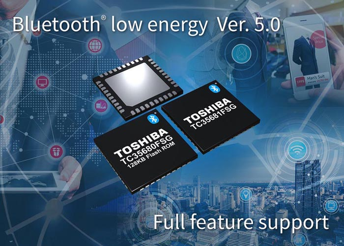 Toshiba представляет две новые ИС, соответствующие стандарту Bluetooth версии 5.0