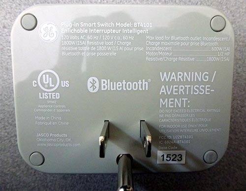 Smart switch provides Bluetooth power control