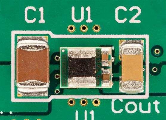 Single-Sided Layout Solution Size 24-V to 5-V, 0.5-A DC-DC Converter