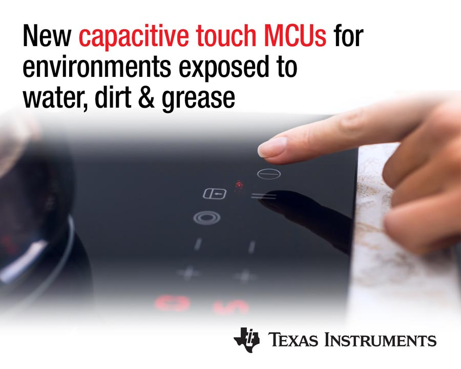 New robust noise-immune capacitive-sensing MCUs TI