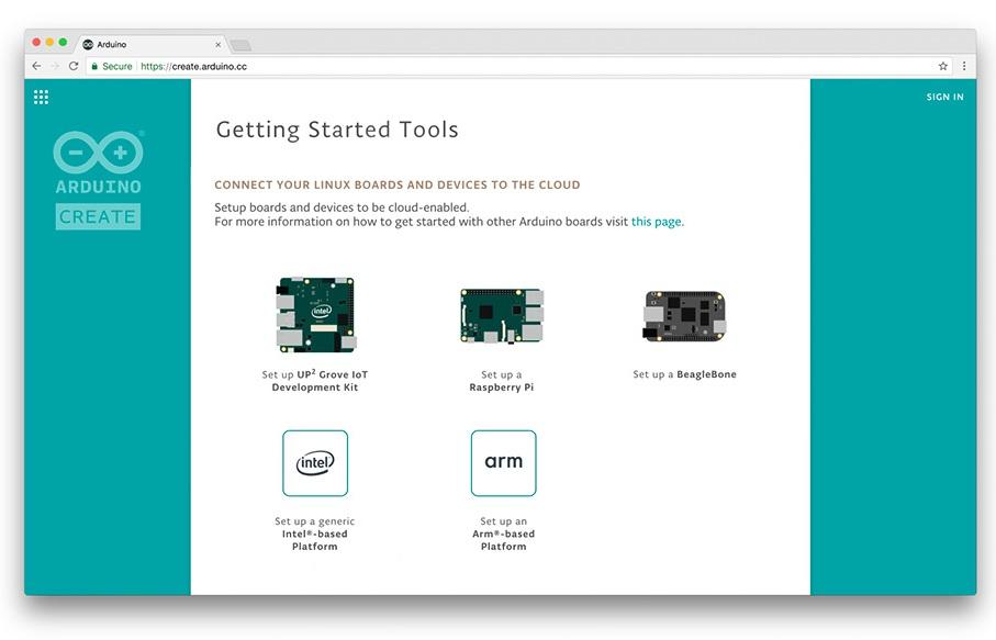 Arduino Create поддерживает одноплатные компьютеры на безе Linux