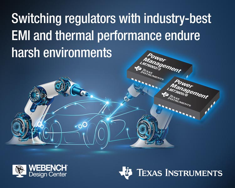 Highly integrated, wide voltage input synchronous converters feature industry-leading EMI and thermal performance