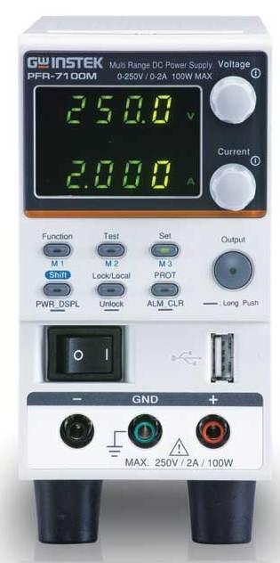 Компания Good Will Instrument представила бесшумный многодиапазонный источник питания серии PFR-7100