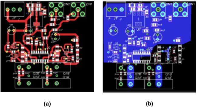 Печатная плата драйвера полумостовой схемы на параллельных транзисторах TO-247