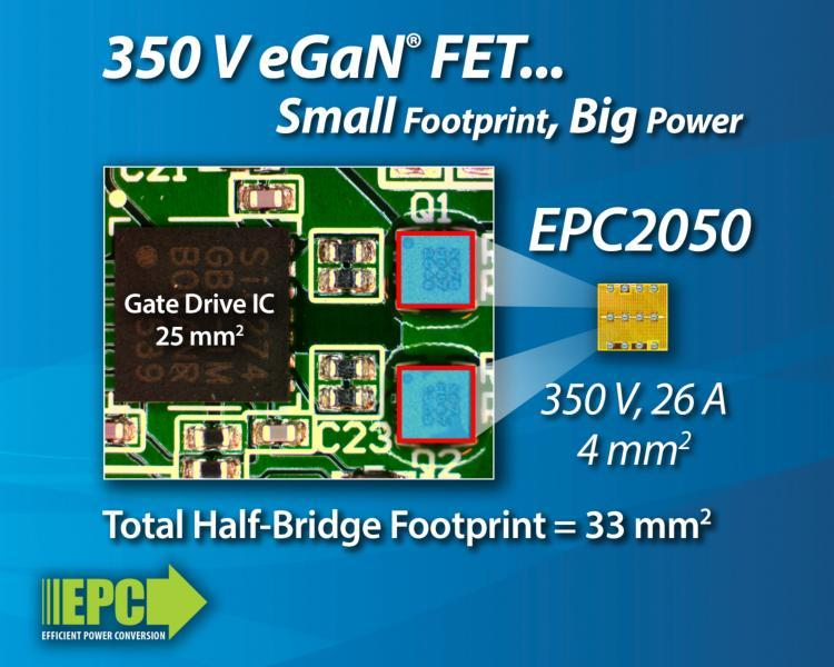 EPC анонсирует сверхминиатюрный мощный 350-вольтовый GaN транзистор