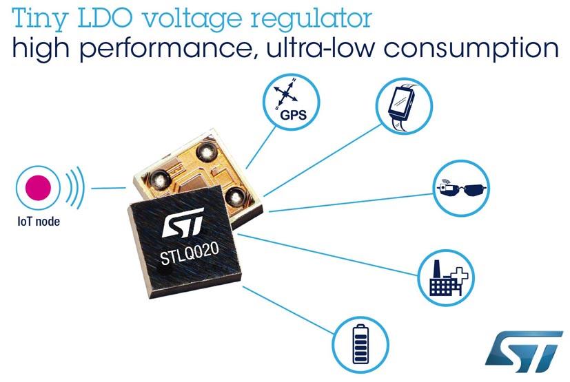 STMicroelectronics выпустила инновационный LDO стабилизатор в сверхминиатюрном корпусе