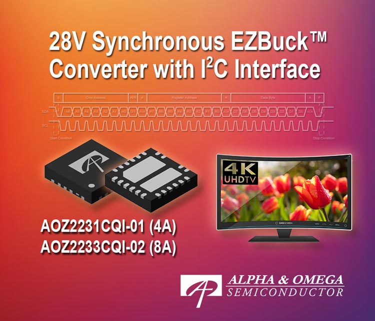 Alpha and Omega Semiconductor Introduces I2C Controllable EZBuck Regulator
