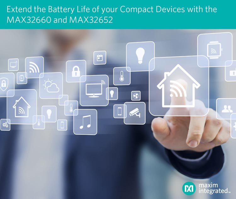 Maxim's Low-Power Microcontrollers Extend Battery Life for Wearables and Other Compact Devices