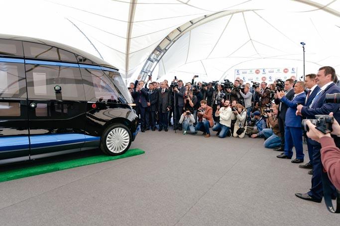 КАМАЗ продемонстрировал в действии первый беспилотный электробус