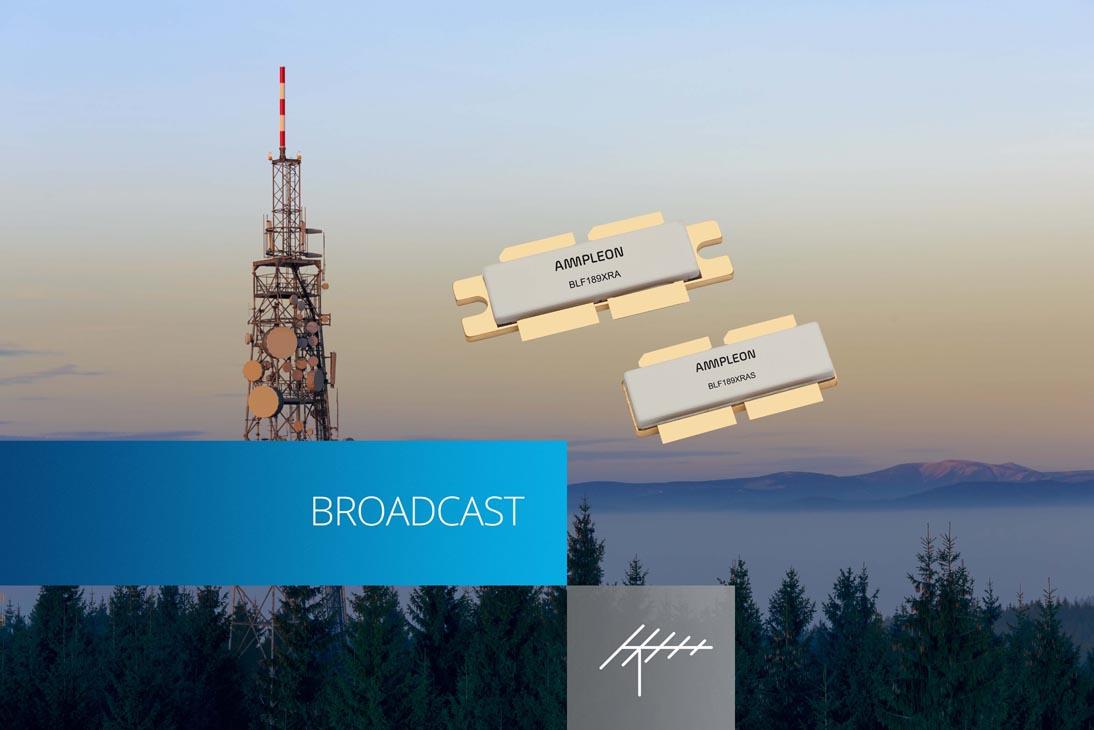Ampleon анонсировала высокоэффективный 1600-ваттный транзистор для ЧМ радиовещательных передатчиков