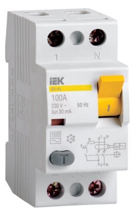 Выключатель дифференциальный ВД1-63 IEK