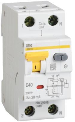 Автоматический выключатель дифференциального тока АВДТ32 IEK