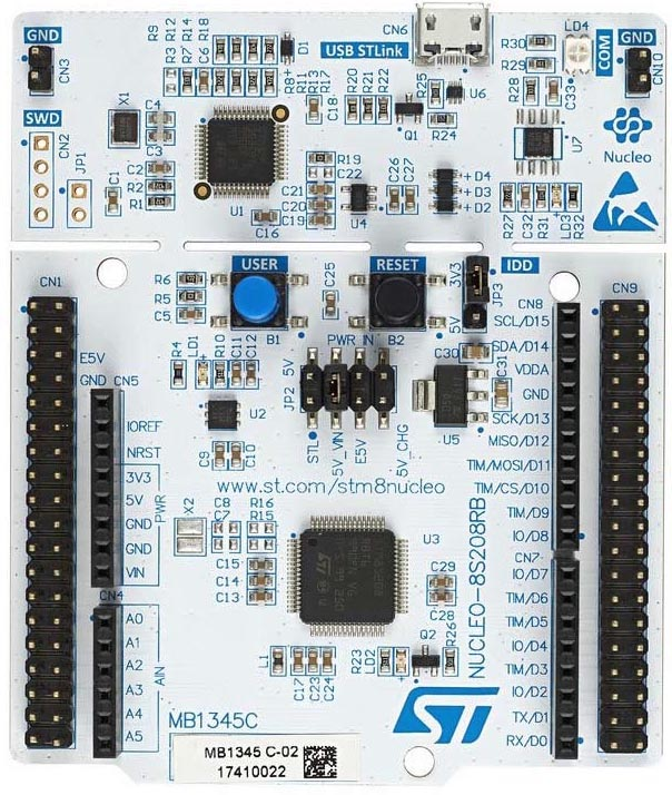 The NUCLEO-8S208RB Board