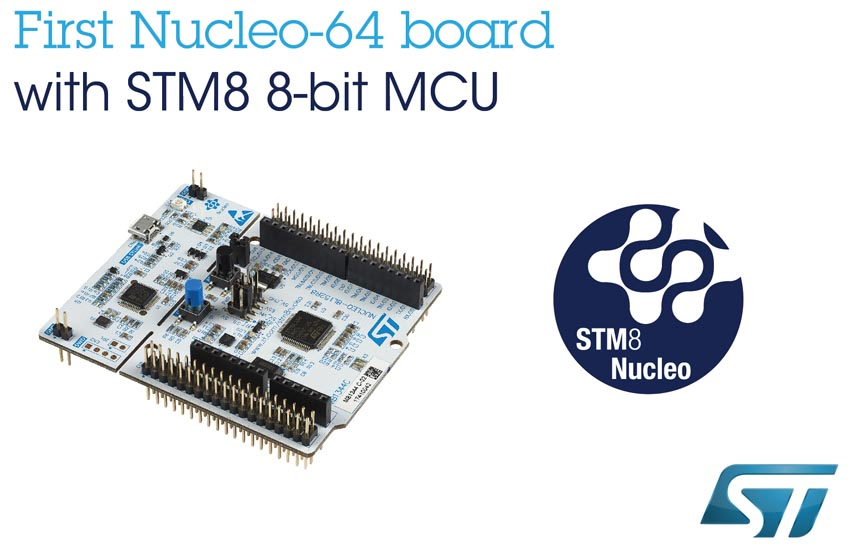 STM8 Nucleo Boards STMicroelectronics Connect 8-bit
