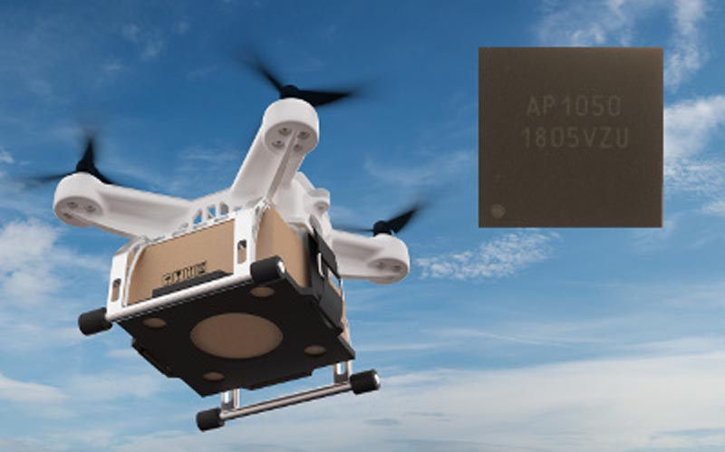 AKM develops an integrated motor pre-driver for drones, achieving a small, quiet, and highly efficient design