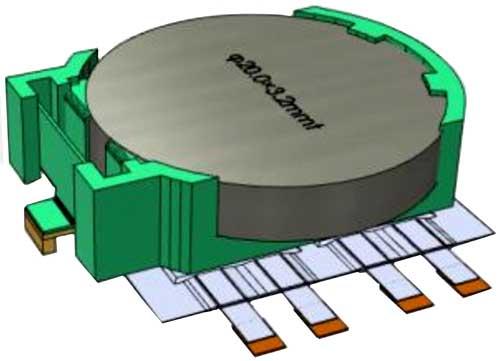 Сверхтонкий конденсатор может располагаться прямо под аккумулятором