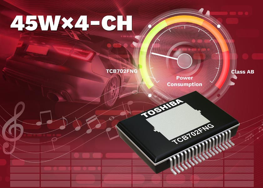 Toshiba adds new 4-channel linear power amplifier for car audio