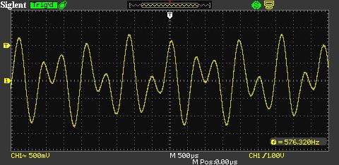 Тональный DTMF-сигнал 941 Гц и 1633 Гц